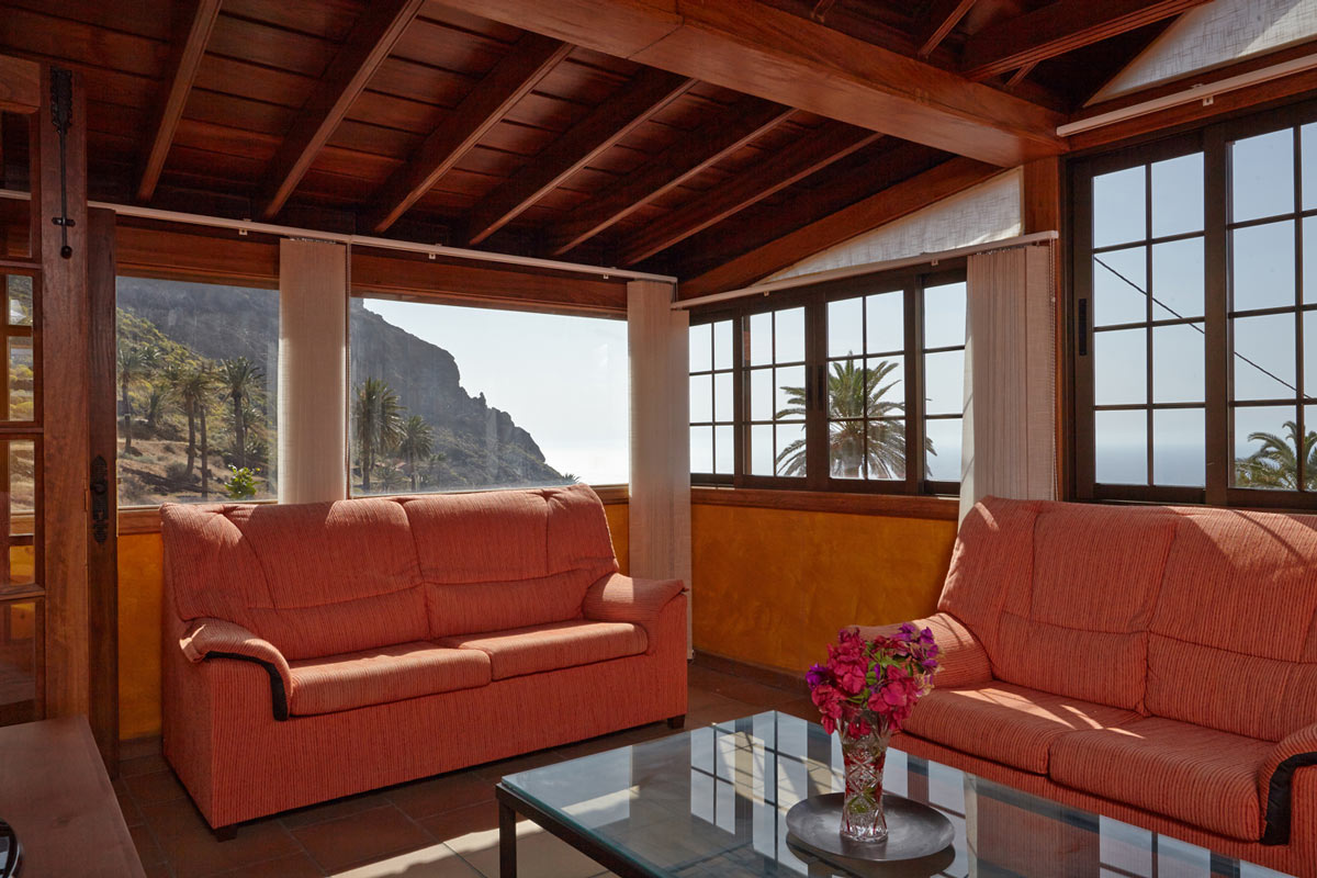 Casa Amarilla (La Gomera, Taguluche) - living room with sea view