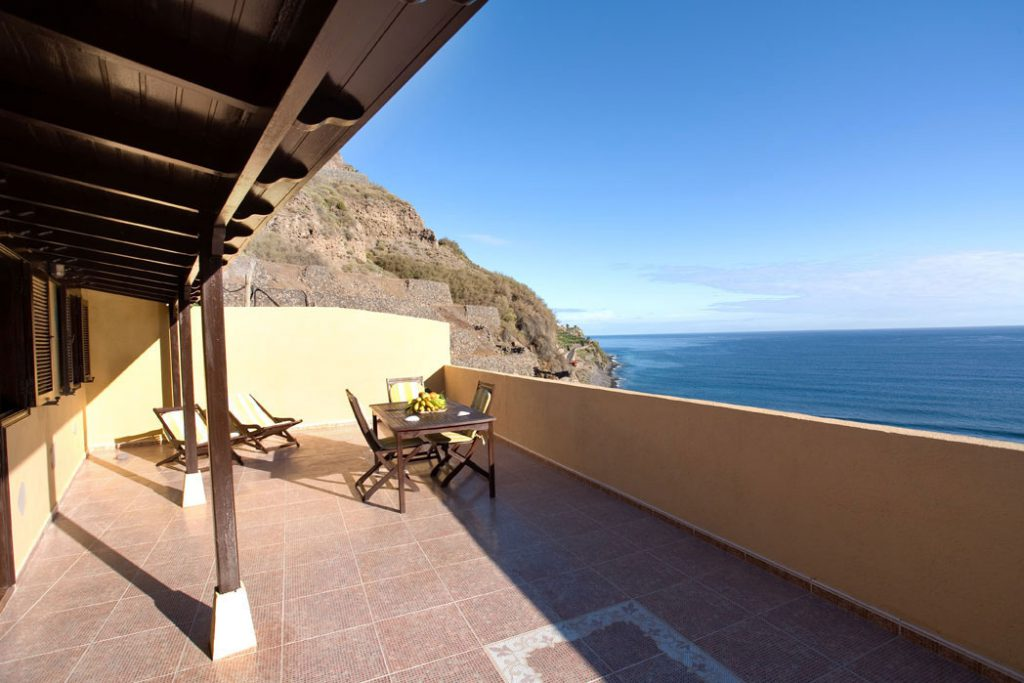 Casita Mónica, terrace with sea view